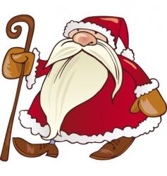 Santa Claus with cane vector