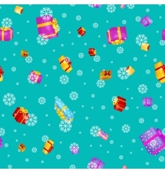 seamless pattern gift box for holiday presents vector image