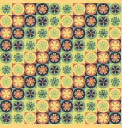 seamless tile petal pattern vector image