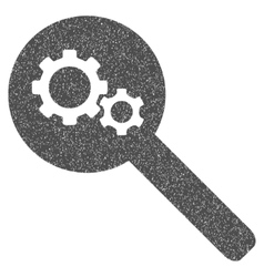 Search Gears Tool Grainy Texture Icon vector