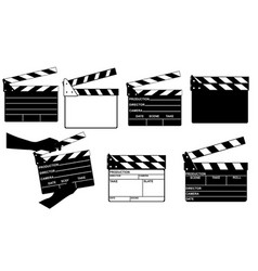 set of different clapperboards vector image