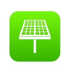 solar energy panel icon digital green vector image