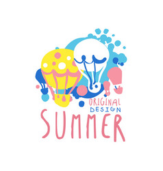Summer logo original design label for summer vector
