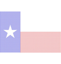 texas halftone flag vector image