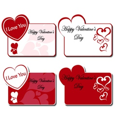 Valentines day greeting card set vector image vector image