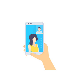 Video call flat style vector