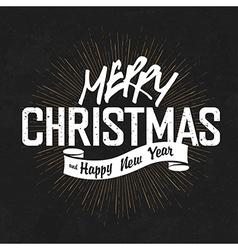 Vintage lettering christmas blackboard vector