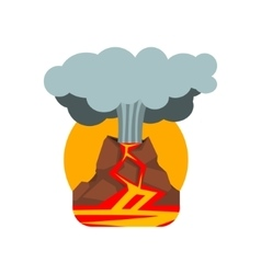 Volcano Eruption Natural Force Sticker vector