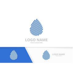 water drop logo combination nature energy droplet vector image