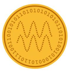 Waves digital coin vector