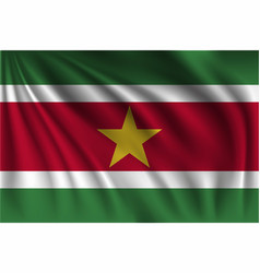 Waving suriname vector
