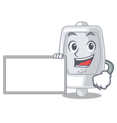With board urinal isolated with in the mascot vector