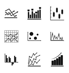 Worksheet icons set simple style vector