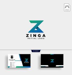 z letter logo concept creative minimal monogram vector image