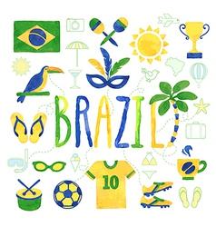 Brazil icons vector