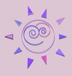 Cartoon sun kid shiny icon vector image vector image