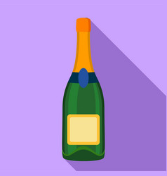 champagne bottle icon flat style vector image vector image