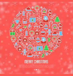 Christmas snow globe concept vector