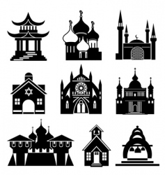 church silhouettes vector image vector image
