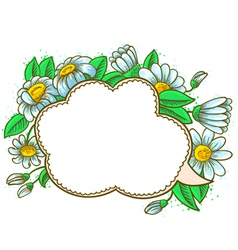frame with camomile vector image