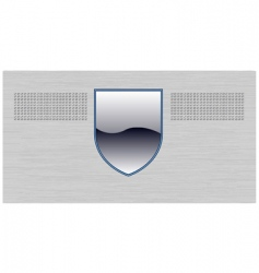 shield background vector image vector image