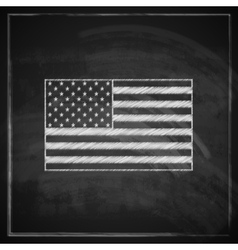 vintage with United States flag on blackboard vector image vector image