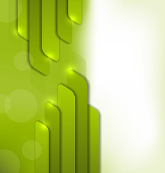 Abstract green background trendy colorful card vector image