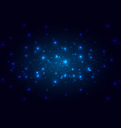abstract space on bright blue background vector image vector image