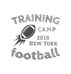 American football training camp logotype emblem vector image vector image
