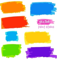 Bright rainbow colors pain spots set vector image vector image