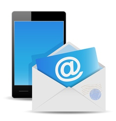 envelope and phone vector image vector image