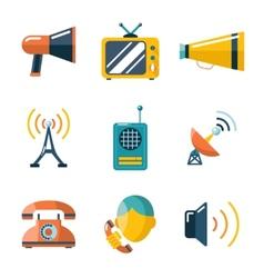 Flat communication business information media web vector image vector image