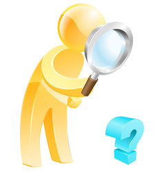 looking for the answer concept vector image