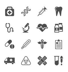 Medical icons on white background vector image