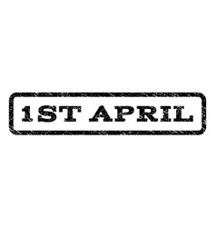 1st april watermark stamp vector image vector image