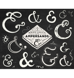 Collection of doodle ampersands vector
