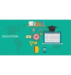 education stuff and preparation vector image vector image