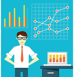 Expert of business optimization vector image