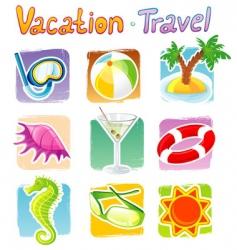 vacation icon vector image
