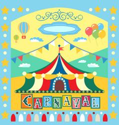 Carnival poster vector