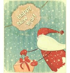 Christmas retro santa vector image