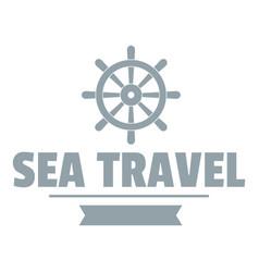 sea travel logo simple gray style vector image