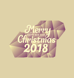 2018 merry christmas and happy new year abstract vector