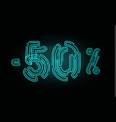 80 sale poster concept eighty percent discount vector image