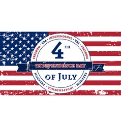American 4th July Independence Day vector image
