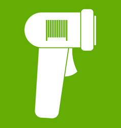 barcode scanner icon green vector image