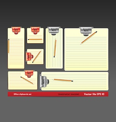 Blank clipboards vector