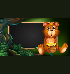 Board design with bear in forest vector
