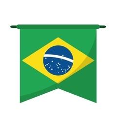 Brasilian flag hanging symbol vector