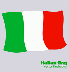 bright button with flag of italy happy italy day vector image
